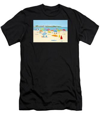 Hampton Beach Umbrellas Men's T-Shirt (Athletic Fit)