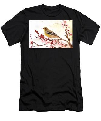 Happy Goldfinch Men's T-Shirt (Athletic Fit)