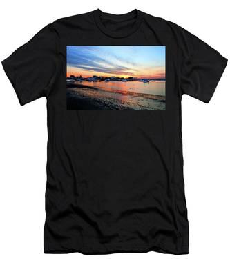 Harbor Sunset At Low Tide Men's T-Shirt (Athletic Fit)