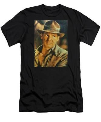 Harrison Ford As Indiana Jones Men's T-Shirt (Athletic Fit)