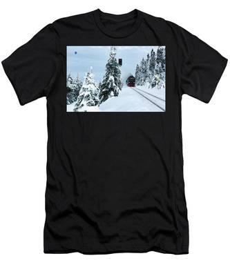 Harz Ballooning And Brocken Railway Men's T-Shirt (Athletic Fit)
