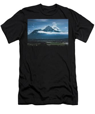 Hochstaufen And Zwiesel Mountain Peaks Men's T-Shirt (Athletic Fit) by Andy Konieczny