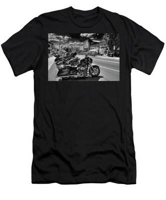 Hogs On Main Street Men's T-Shirt (Athletic Fit)