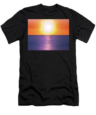 Incredible Sunset Over Sea Men's T-Shirt (Athletic Fit) by Michael Goyberg