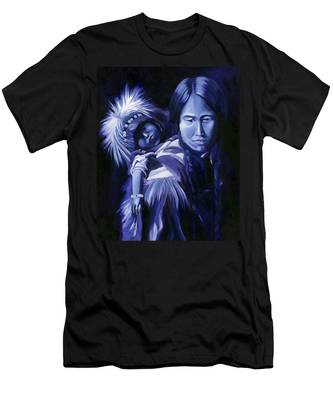 Inuit Mother And Child Men's T-Shirt (Athletic Fit)