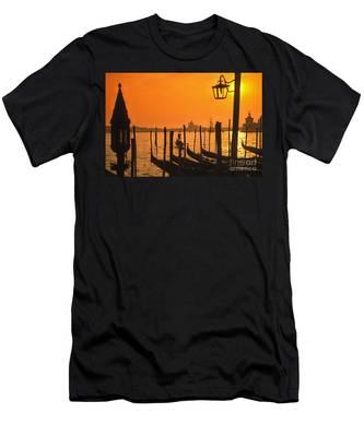 Men's T-Shirt (Athletic Fit) featuring the photograph Italy Venice Riva Degli Schiavoni , Canale Grande Riva Degli Sch by Juergen Held