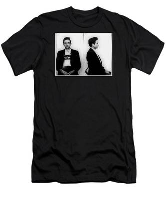 Johnny Cash Mug Shot Horizontal Men's T-Shirt (Athletic Fit)