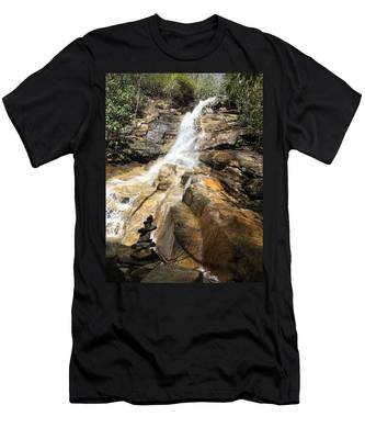 Jones Gap Falls And Monument Men's T-Shirt (Athletic Fit)