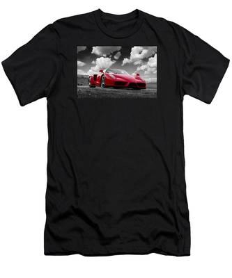 Just Red 1 2002 Enzo Ferrari Men's T-Shirt (Athletic Fit)
