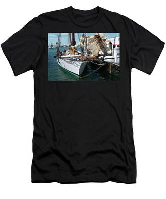 Men's T-Shirt (Athletic Fit) featuring the photograph Key West Appledore Sailboat by Dennis Dame