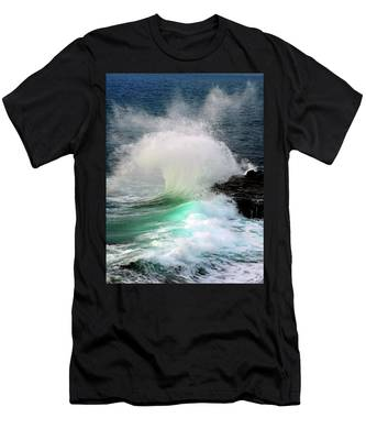Men's T-Shirt (Athletic Fit) featuring the photograph La Jolla Surge by Howard Bagley