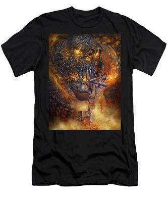 Lady And Skull Men's T-Shirt (Athletic Fit)