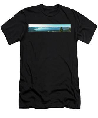 Laketahoe Panorama Men's T-Shirt (Athletic Fit)