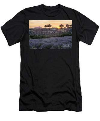 Men's T-Shirt (Athletic Fit) featuring the photograph Lavender Field Provence  by Juergen Held