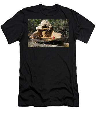 Men's T-Shirt (Athletic Fit) featuring the photograph Lazy Bird Bath  by Christy Pooschke