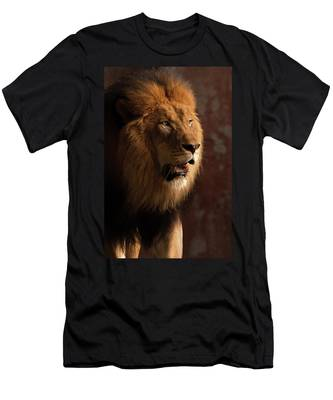 Men's T-Shirt (Athletic Fit) featuring the photograph Leo by Howard Bagley