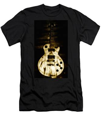 Men's T-Shirt (Athletic Fit) featuring the photograph Les Paul Guitar by Bill Cannon