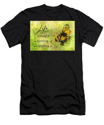Life Is A Balance Men's T-Shirt (Athletic Fit)