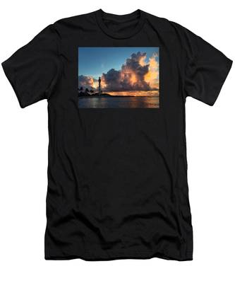 Lighthouse In Orange Men's T-Shirt (Athletic Fit)