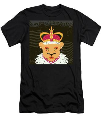Lioness Queen Men's T-Shirt (Athletic Fit)