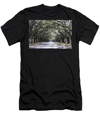Live Oak Lane In Savannah Men's T-Shirt (Athletic Fit)