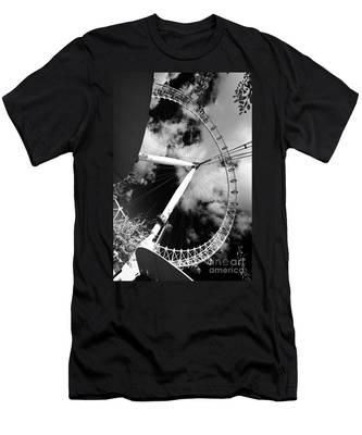 London Ferris Wheel Bw Men's T-Shirt (Athletic Fit)