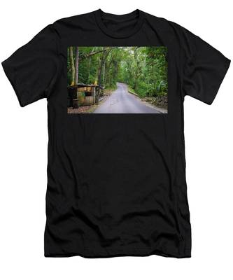 Lonely Country Road Men's T-Shirt (Athletic Fit)