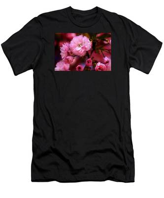 Lovely Spring Pink Cherry Blossoms Men's T-Shirt (Athletic Fit)