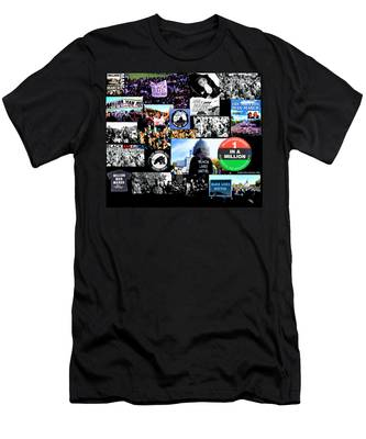 Million Man March Montage Men's T-Shirt (Athletic Fit)