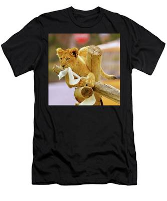 Men's T-Shirt (Athletic Fit) featuring the photograph Mischief by Howard Bagley