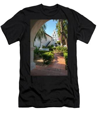 Men's T-Shirt (Athletic Fit) featuring the photograph Mission Walk by Howard Bagley