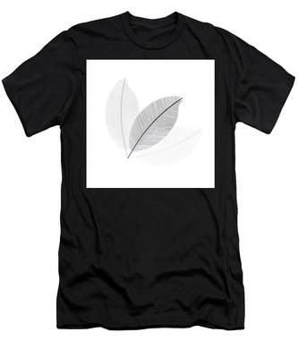 Monochrome Leaves Men's T-Shirt (Athletic Fit)