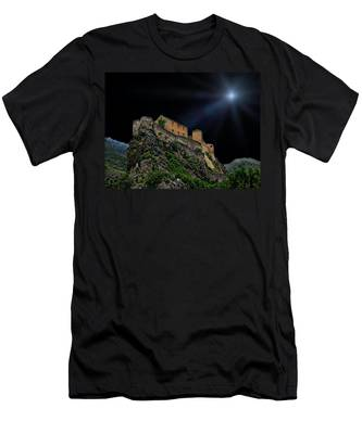 Moonlit Castle Men's T-Shirt (Athletic Fit)