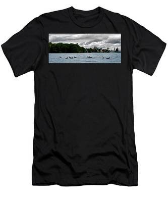 Moose Beach Point Men's T-Shirt (Athletic Fit)