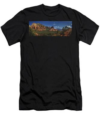 Men's T-Shirt (Athletic Fit) featuring the photograph Mormon Canyon Panorama by Andy Konieczny
