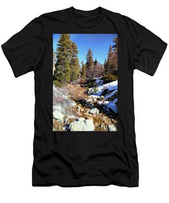 Mountain Scene Men's T-Shirt (Athletic Fit)