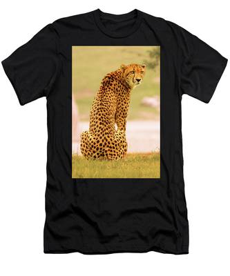 Men's T-Shirt (Athletic Fit) featuring the photograph My Cheetah by Howard Bagley