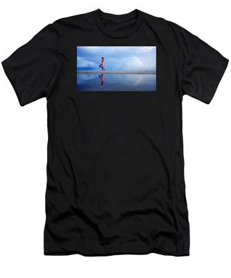 Mysterious Rainbow Girl Men's T-Shirt (Athletic Fit)