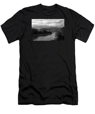 Nantahala River Blue Ridge Mountains Men's T-Shirt (Athletic Fit)