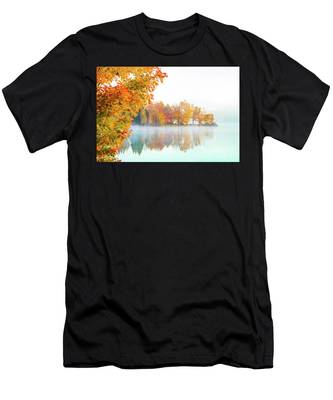 Men's T-Shirt (Athletic Fit) featuring the photograph New England Fall Colors Of Maine by Jeff Folger