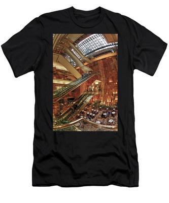 Men's T-Shirt (Athletic Fit) featuring the photograph New York Trump Tower  by Juergen Held
