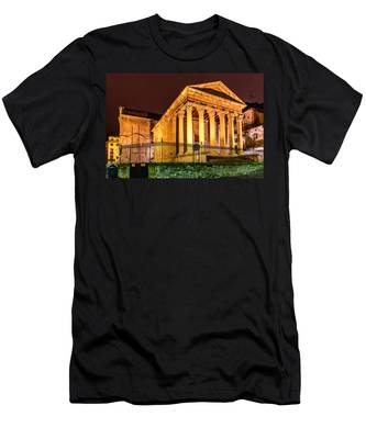 Night At The Roman Temple Men's T-Shirt (Athletic Fit)