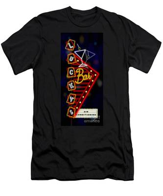 Nightclub Sign Luckys Bar Men's T-Shirt (Athletic Fit)