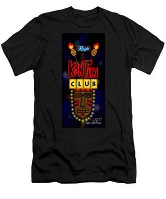 Nightclub Sign Rays Kon Tiki Club Men's T-Shirt (Athletic Fit)