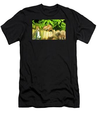 Men's T-Shirt (Athletic Fit) featuring the photograph Nutty Buddies by Ola Allen