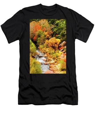 Oak Creek Canyon Men's T-Shirt (Athletic Fit) by Howard Bagley
