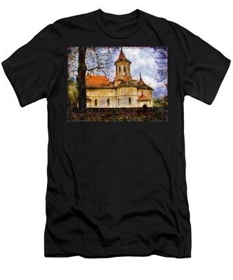 Old Church With Red Roof Men's T-Shirt (Athletic Fit)