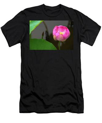 Men's T-Shirt (Athletic Fit) featuring the photograph Opening Lotus Lily by Dennis Dame