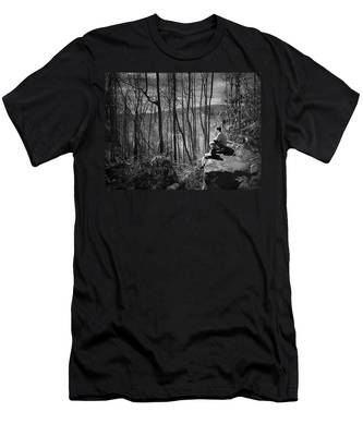 Overlook By Rainbow Falls Men's T-Shirt (Athletic Fit)