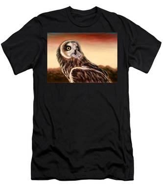 Owl At Sunset Men's T-Shirt (Athletic Fit)